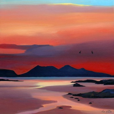 Scottish Artist Pam CARTER - Hot Sundown & Flight