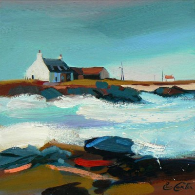 Scottish Artist Pam CARTER - Farm By The Surf