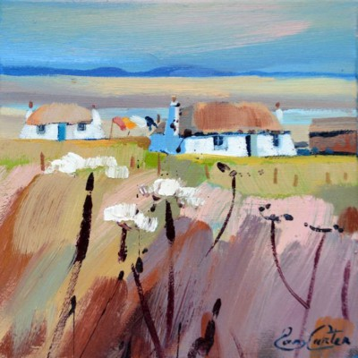Scottish Artist Pam CARTER - Thatched Bothies