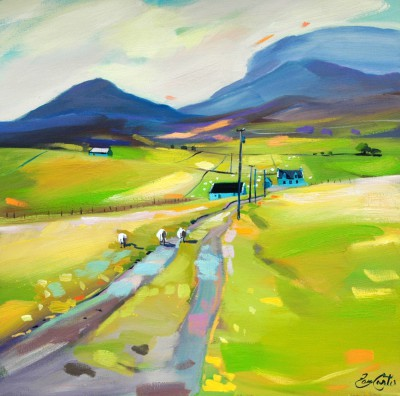 Scottish Artist Pam CARTER - To Digg, Skye