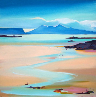 Scottish Artist Pam CARTER - Stream to Rum