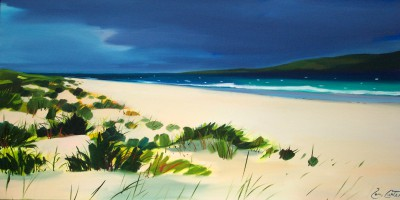 Scottish Artist Pam CARTER - Long Beach, Luskentyre