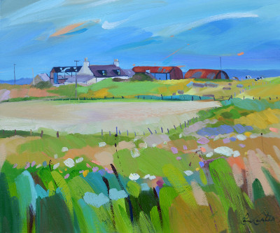 Scottish Artist Pam CARTER - Farm Clusters, Gigha