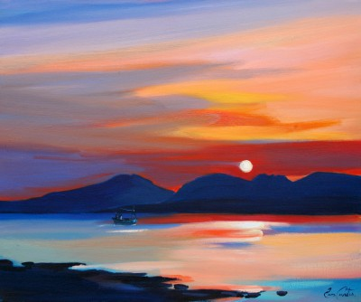 Scottish Artist Pam CARTER - Home Before Sundown