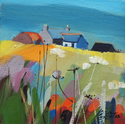 Scottish Artist Pam CARTER - Summer Steading