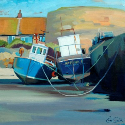 Scottish Artist Pam CARTER - Hugging Boats