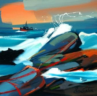 Scottish Artist Pam CARTER - On The Crest of a Wave