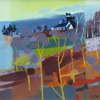 Scottish Artist Pam CARTER - The Clearing