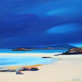 Scottish Artist Pam CARTER - Sandbar Gulls