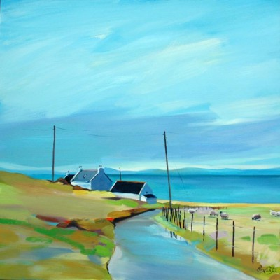 Scottish Artist Pam CARTER - Room with a Northerly View