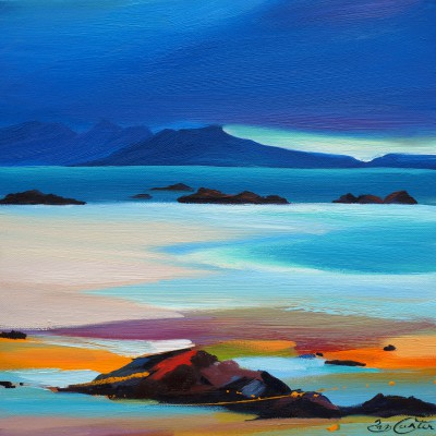 Scottish Artist Pam CARTER - Seashore to Eigg