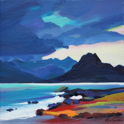 Scottish Artist Pam CARTER - Shower in the Cuillin