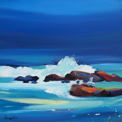 Scottish Artist Pam CARTER - Disturbed By The Surf