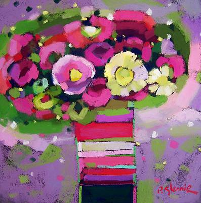 Scottish Artist Pam GLENNIE - Birthday Blooms