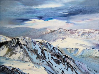 Scottish Artist Peter GOODFELLOW - Torridon Winter