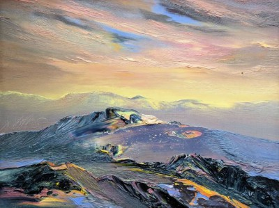 Scottish Artist Peter GOODFELLOW - Autumn Light Assynt