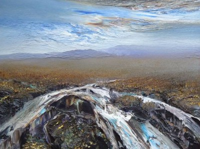Scottish Artist Peter GOODFELLOW - Sutherland Spate