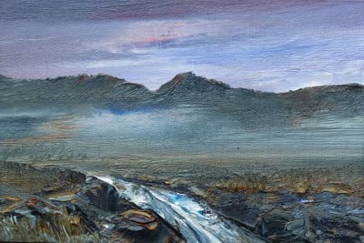 Skye Torrent painting by artist Peter GOODFELLOW