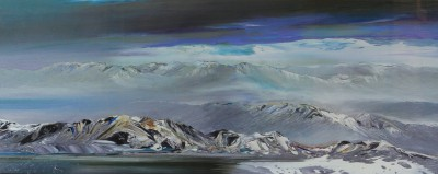 Winter Lochan Lochaber painting by artist Peter GOODFELLOW