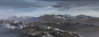 Winter Light Grey Corries painting by artist Peter GOODFELLOW
