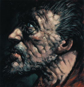Scottish Artist Peter HOWSON - Study for Saint Andrew