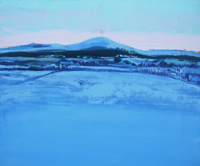 Scottish Artist Peter KING - Winter Light, Clyde Valley