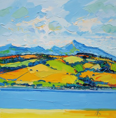 Peter KING - Arran from the Holy Isle