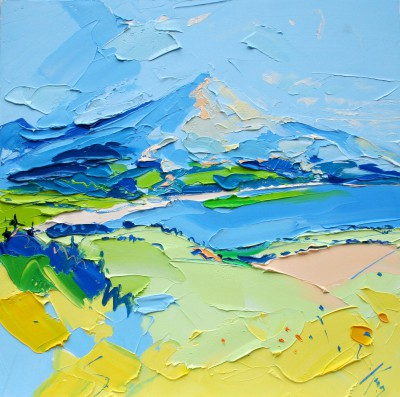 Scottish Artist Peter KING - Goat Fell Arran I
