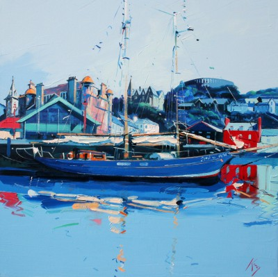 Scottish Artist Peter KING - The North Pier at Oban