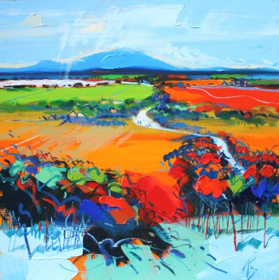 Scottish Artist Peter KING - Autumn Clyde Valley
