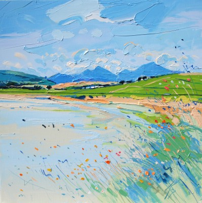 Scottish Artist Peter KING - Harris Machair