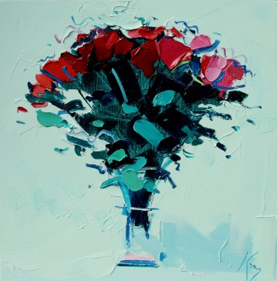 Scottish Artist Peter KING - Red Roses