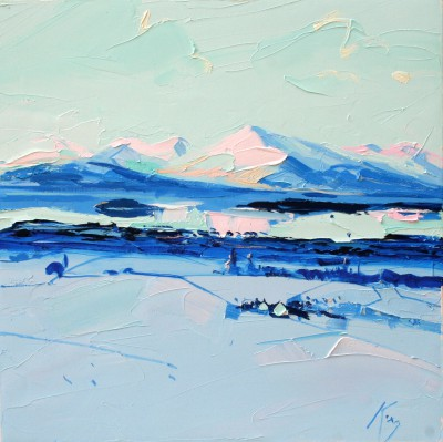 Scottish Artist Peter KING - Winter Light Loch Lomond