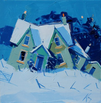 Scottish Artist Peter KING - Balquhidder Cottage