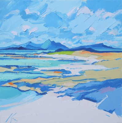 Scottish Artist Peter KING - Green Sea, Ardnamurchan