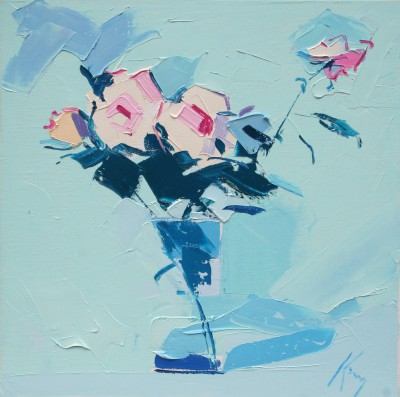 Scottish Artist Peter KING - Pink Roses