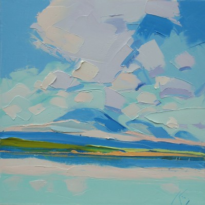 Scottish Artist Peter KING - The Paps of Jura