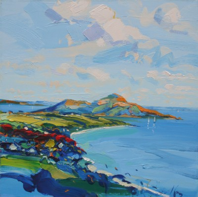 The Holy Isle Arran painting by artist Peter KING