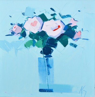 Pink Roses painting by artist Peter KING