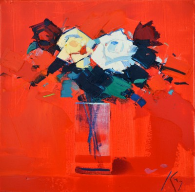 Scottish Artist Peter KING - White Roses
