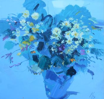 Spring Flowers I painting by artist Peter  KING