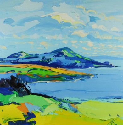 Scottish Artist Peter KING - The Holy Isle Arran