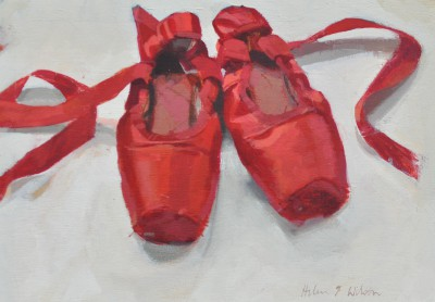 Scottish Artist Helen WILSON  RGI - Red Shoes