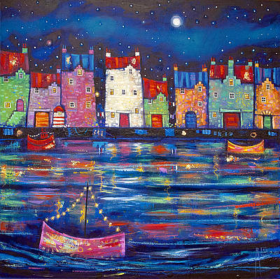Scottish Artist Ritchie COLLINS - In the Moonlight