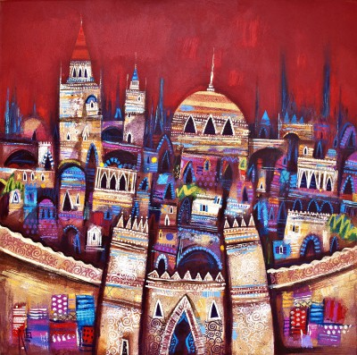 City Gates painting by artist Ritchie COLLINS