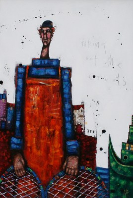 Taking Oot the Creels painting by artist Ritchie COLLINS