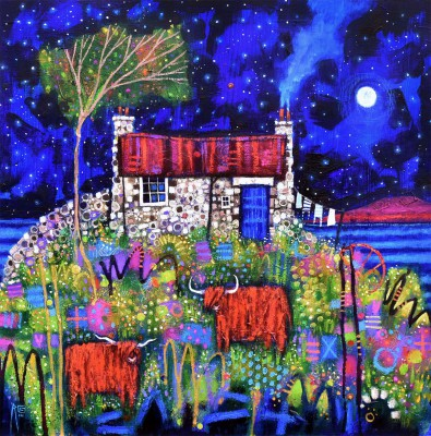Scottish Artist Ritchie COLLINS - Applecross Bothy
