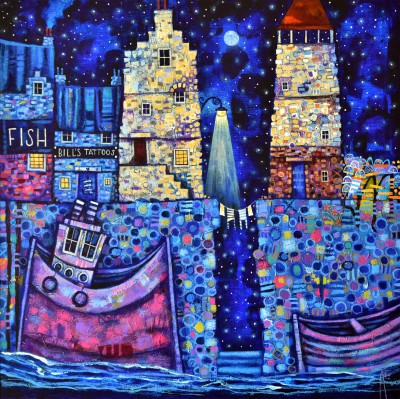 Scottish Artist Ritchie COLLINS - Auld Port Blues