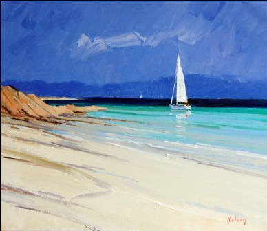 Scottish Artist Robert KELSEY - Close to Shore, Iona