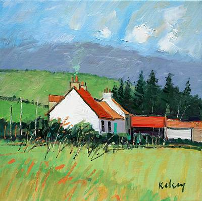 Scottish Artist Robert KELSEY - Farm Croft, Sutherland